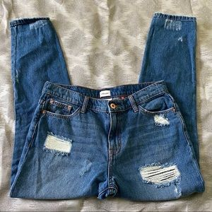 Sneak Peek Boyfriend Distressed Jeans Size Small